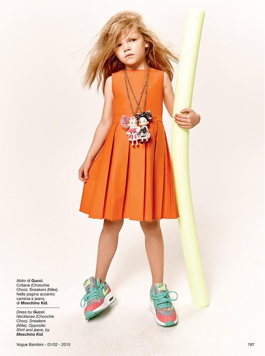 MOSCHINO FASHION FOR CHILDREN STYLED BY ELLIE LINES FOR VOGUE BAMBINI MAGAZINE