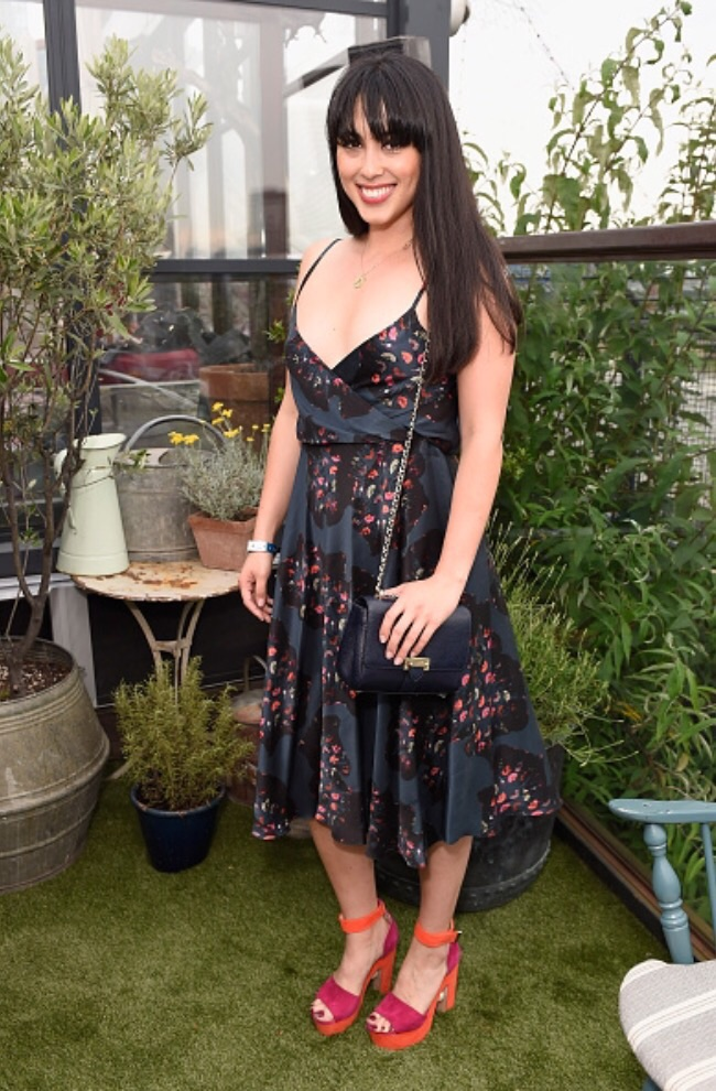 Melissa Hemsley wearing fashion designer Ellie Lines' Deia Moonshine Carly dress