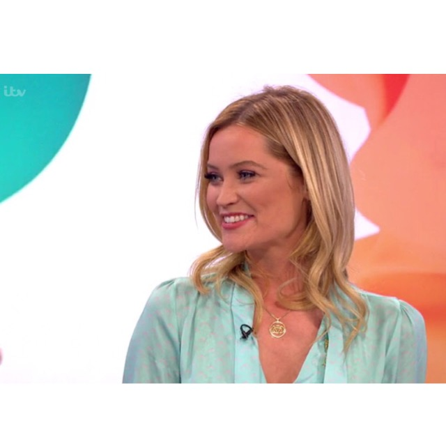 Laura Whitmore wearing an Ellie Lines Maddie blouse