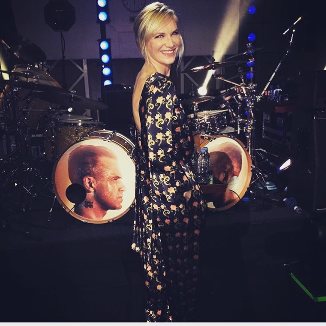 Jo Whiley wearing jumpsuit by Seren London