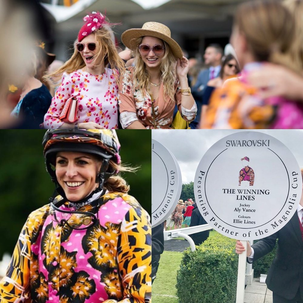 Ladies Day at Goodwood Races - Winning Colours Designed by Ellie Lines