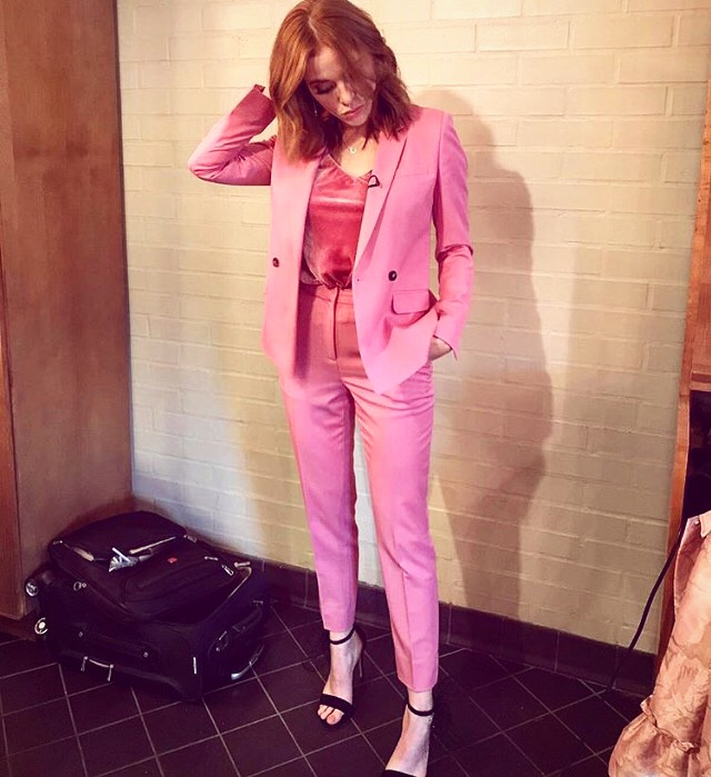 Angela Scanlon took our scrumptious velvet Rosie camisole for a spin -
