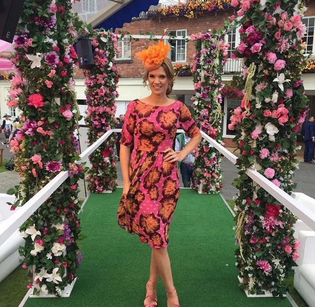 Charlotte Hawkins looked blooming gorgeous in the Vicky dress -