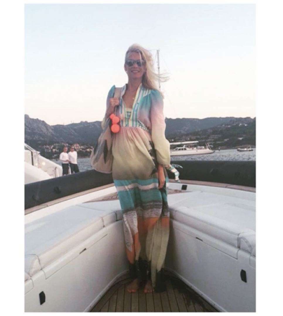 Supermodel Claudia Schiffer took our maxi dress onboard -