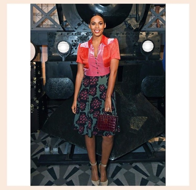 Rochelle Humes looked stunning in the Tess dress -