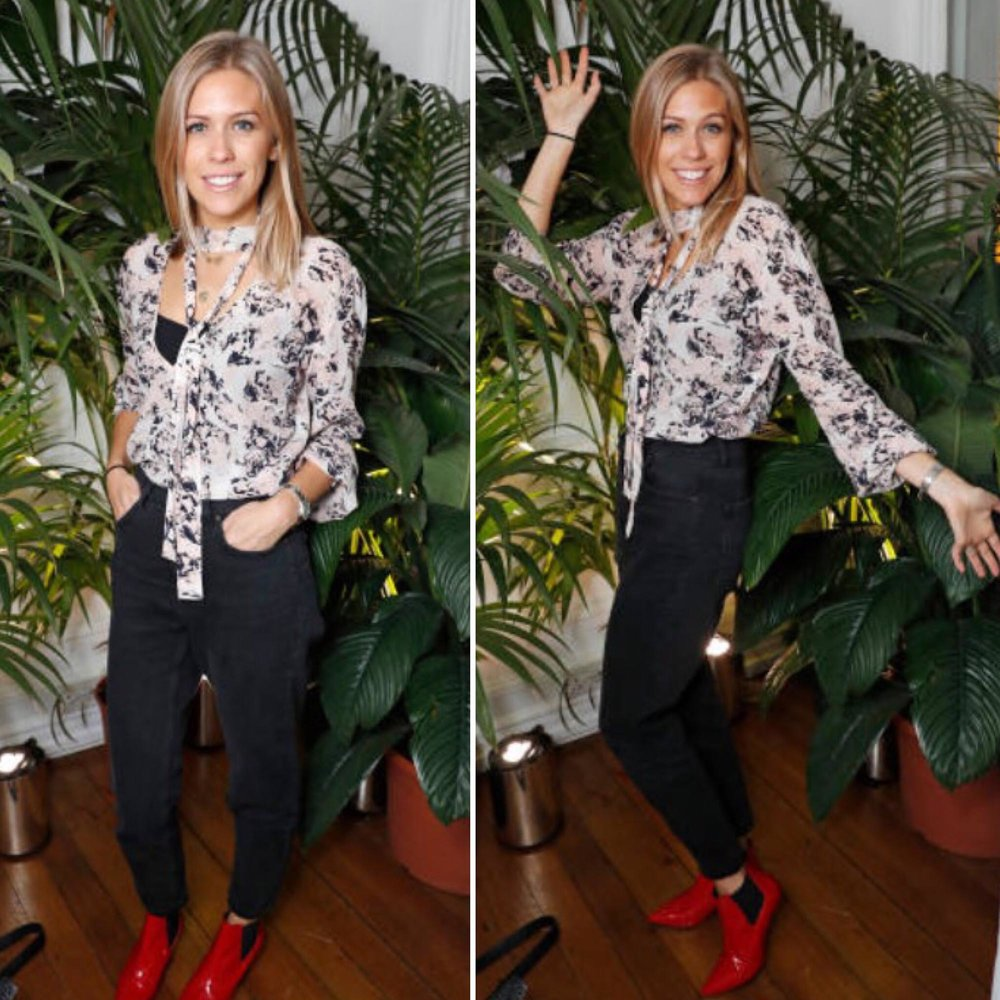 Nicki Shields rocked her Tori blouse -