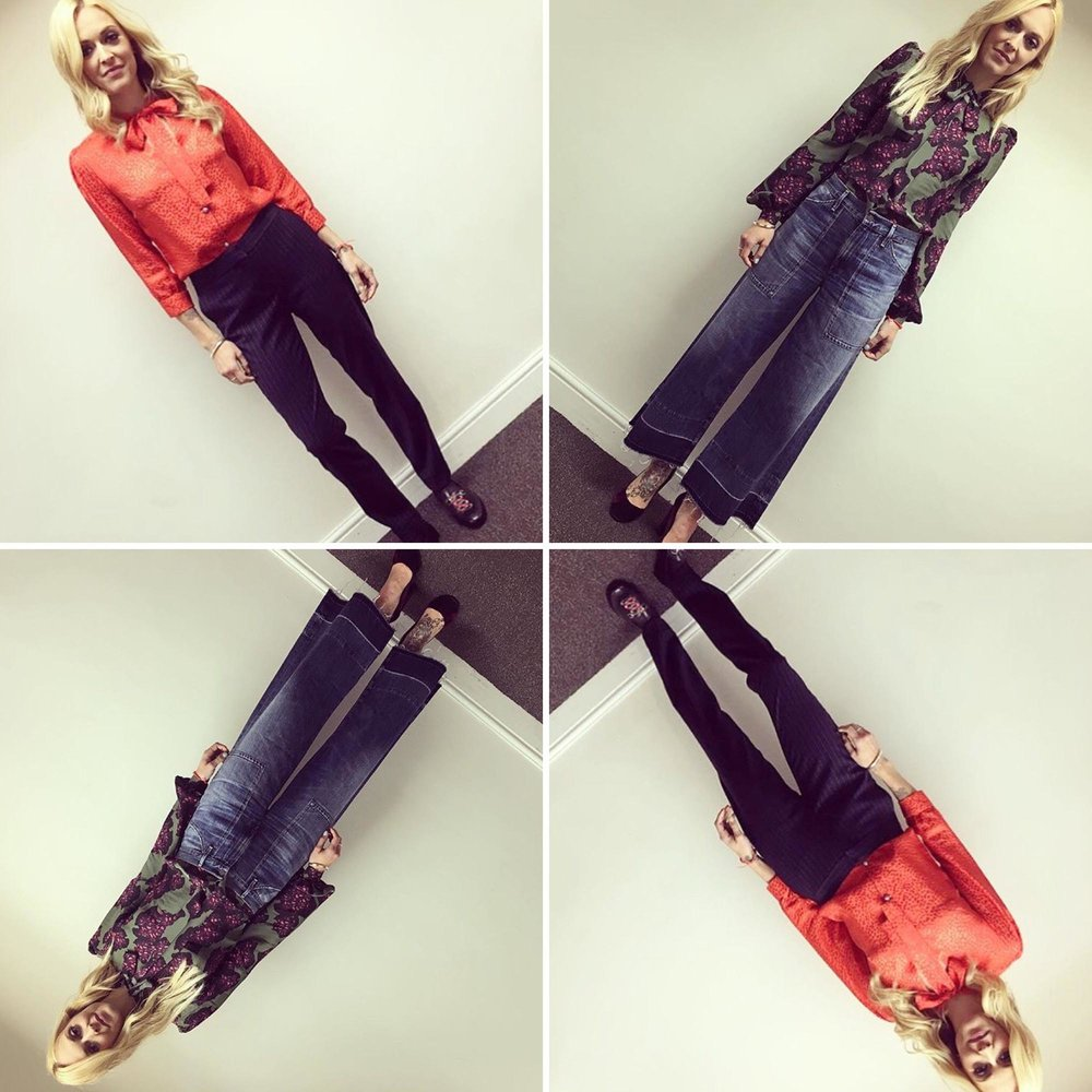 Style Queen Fearne Cotton rocked both our Maddie and Tina blouses on Celebrity Juice -