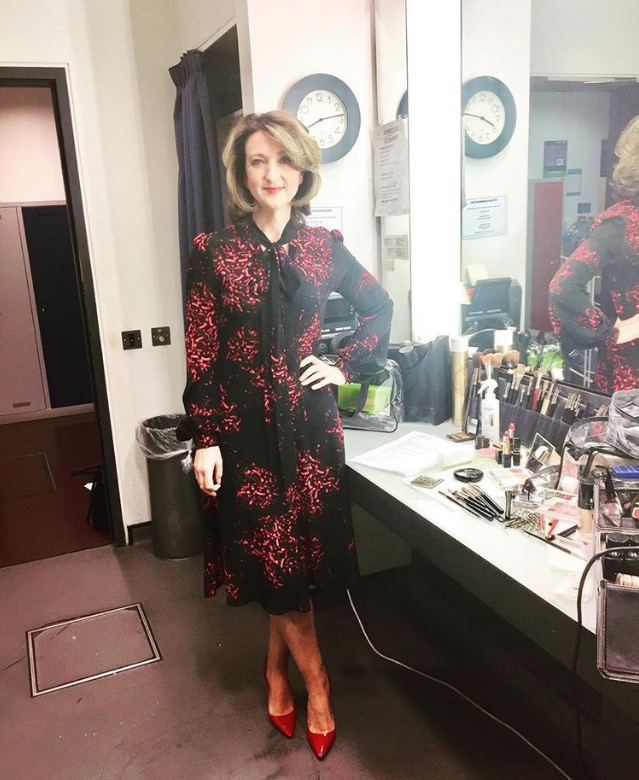 The incredible Victoria Derbyshire looked amazing in her Julia dress -