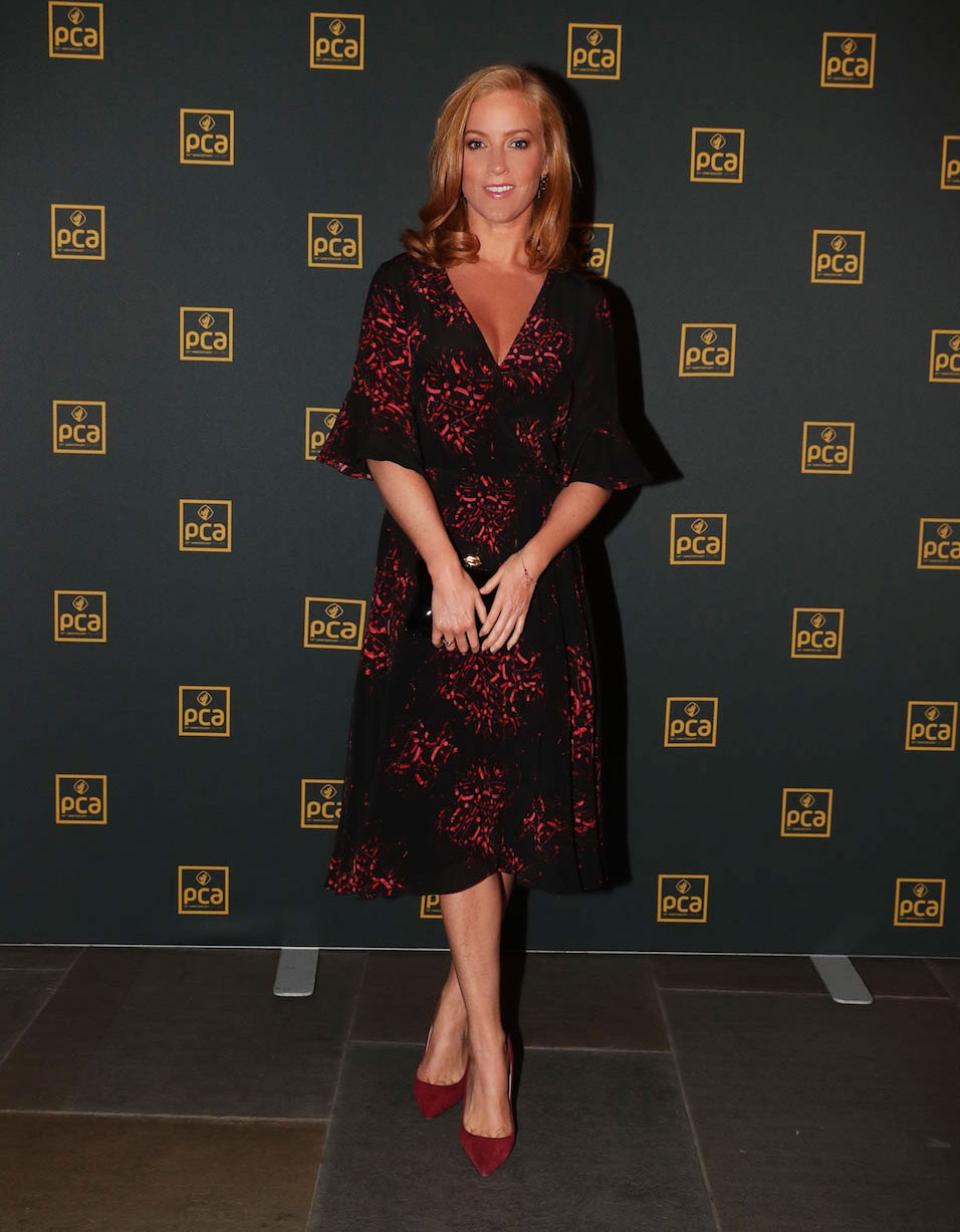 Red Heads Rule! Sarah-Jane Mee looked absolutely stunning in the new Doody wrap dress -
