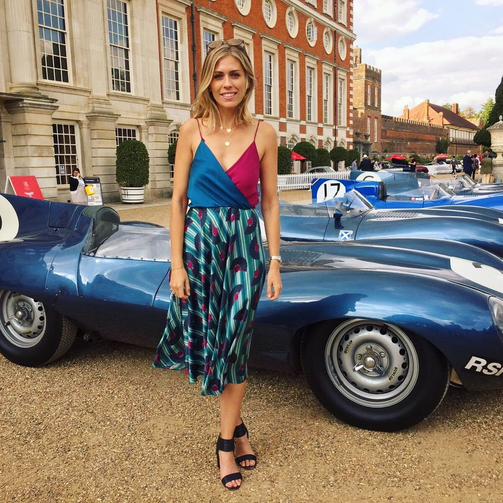 Loving all things cars, Nicki Shields wore the Carly dress in the Fantasy print with some dream wheels -