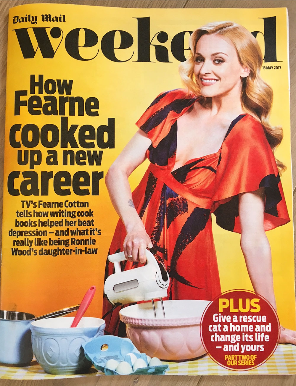 Cooking up a style storm, cover girl Fearne Cotton wears the Fred dress -