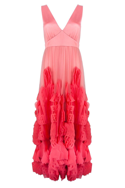 Bridal dress coral designed by Ellie Lines