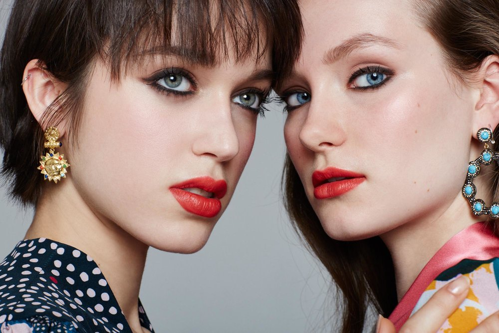 Models with beautiful makeup