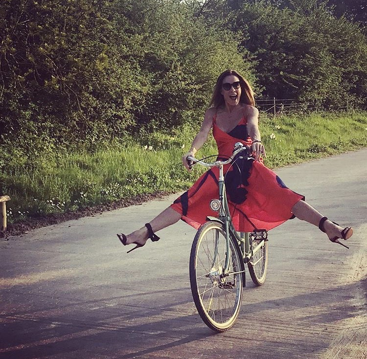 Red hot Natalie Pinkham took the Carly dress for a spin -