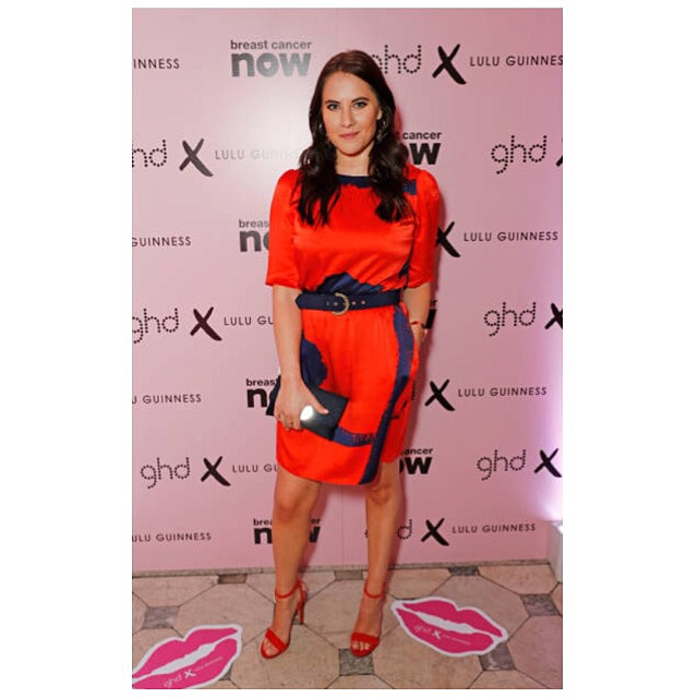 DJ Kat Shoob hit top of the style charts wearing the Alexa dress in Scarlett Lines print -