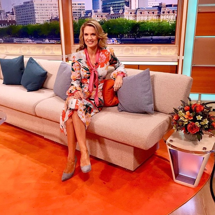 Blooming gorgeous, Charlotte Hawkins wearing the Julia Positano print dress -