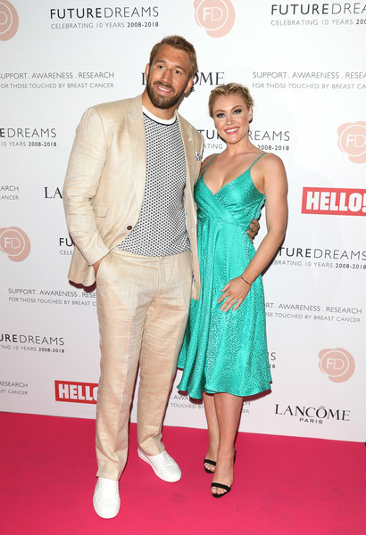Looking simply beautiful, Camilla Kerslake shined on the red carpet wearing the Carly dress -