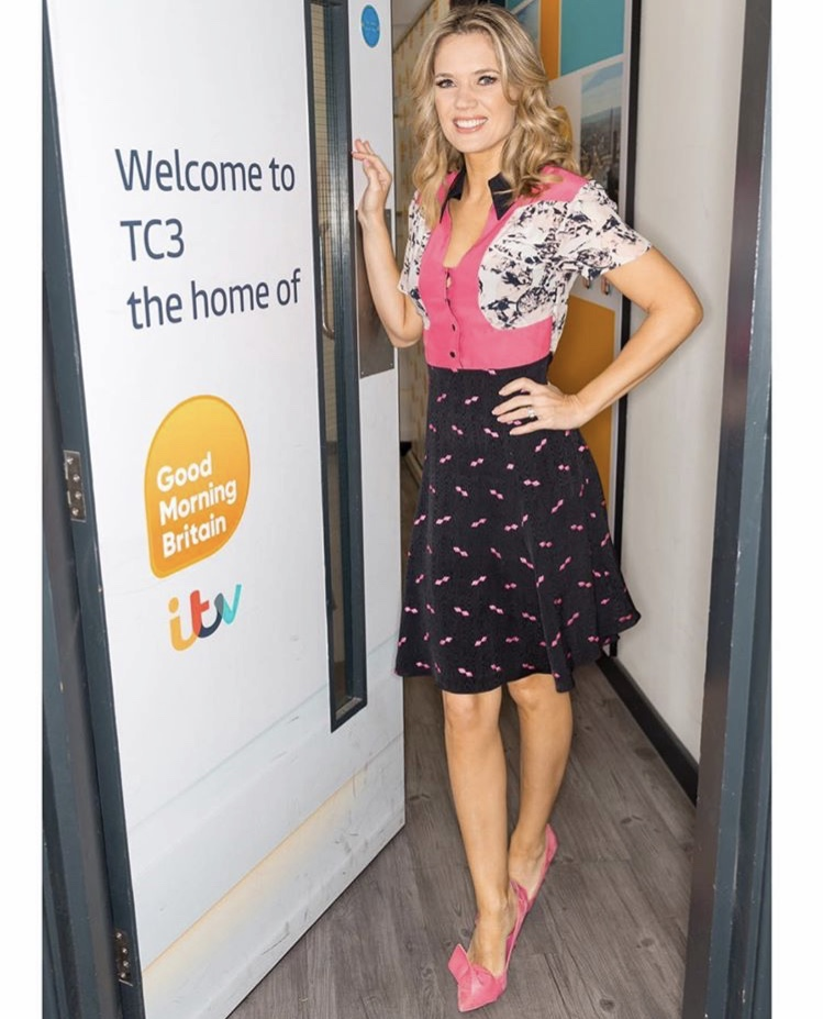 Pretty in pink, Charlotte Hawkins looked stunning as ever wearing the Tess dress -