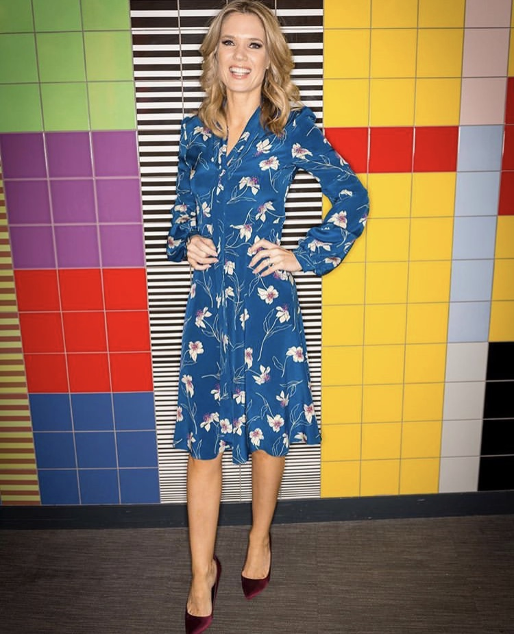 Looking radiantly stunning, Charlotte Hawkins shows that the Julia dress is a style favourite -