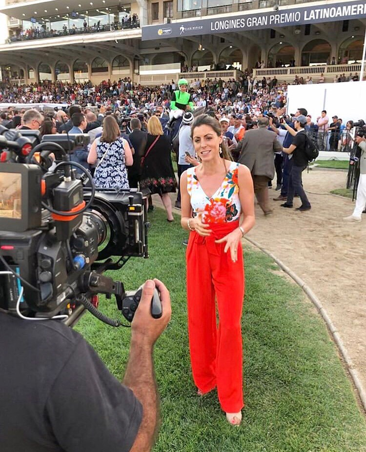 Aly Vance showed how the Jocelyn jumpsuit is a super chic style winner for the races -