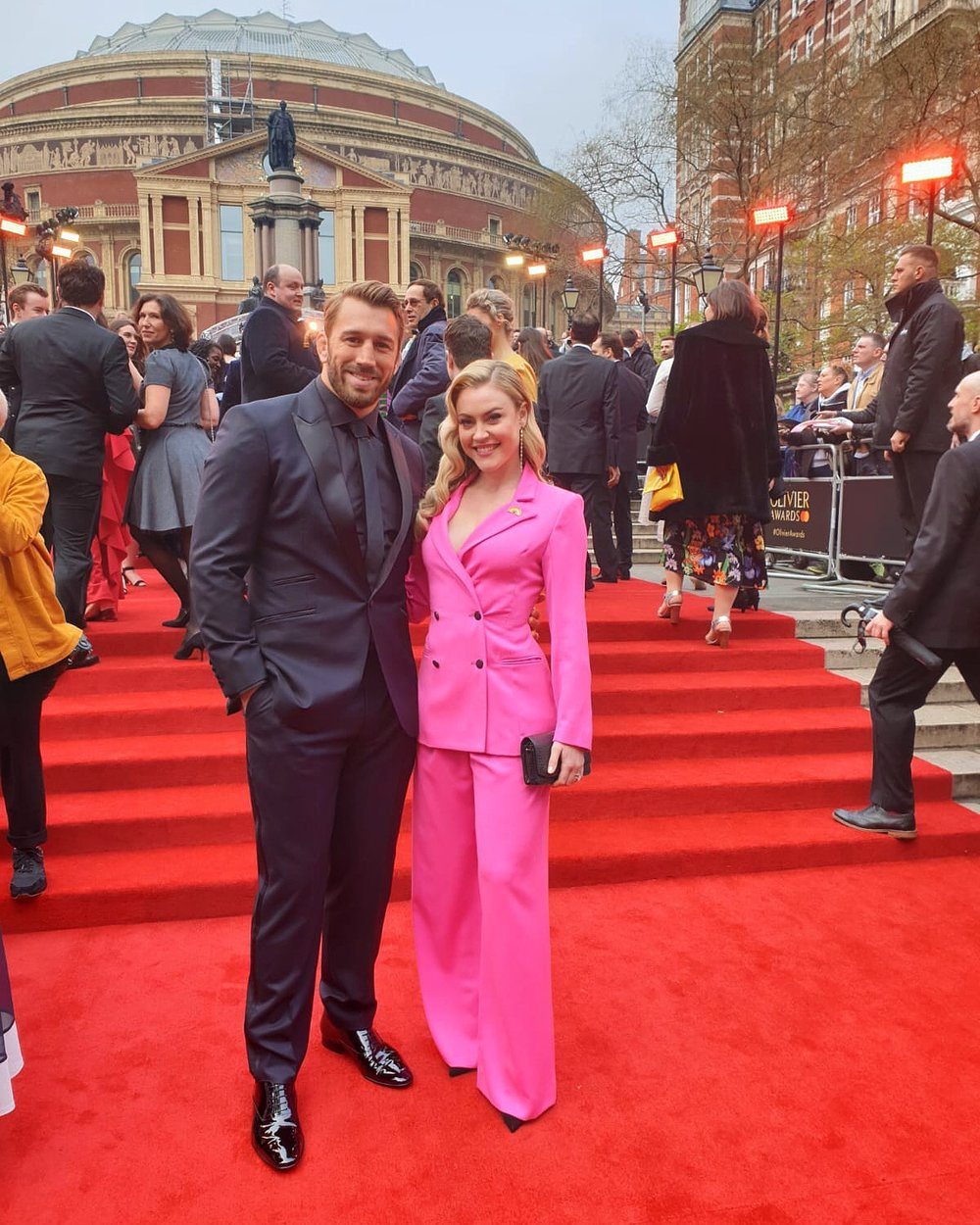 Camilla Kerslake look exquisitely stunning wearing the Ravello trouser suit to the Olivier Awards -