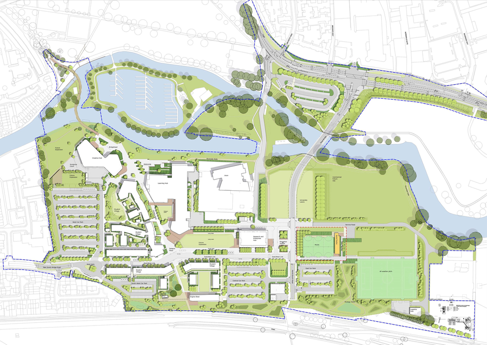 Campus map illustration - click to enlarge