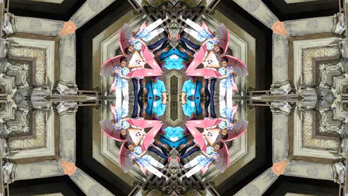 Incredible kaleidoscopic view of my favorite temple Angkor Wat
