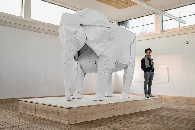 Sipho Mabonao's life sized origami animals are incredible, oh the power of paper. If your in Switzerland view his exhibition at the Art Museum in Beromunster.
