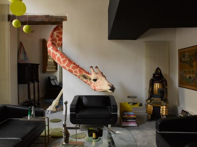 French designer Ora Ito's lounge room.