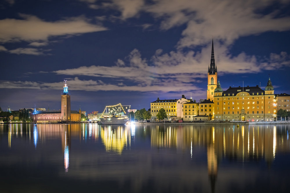 Photography of Stockholm City Hall and Riddarholmen