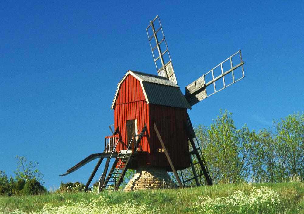 Kvarn windmill in Hagaby, Öland