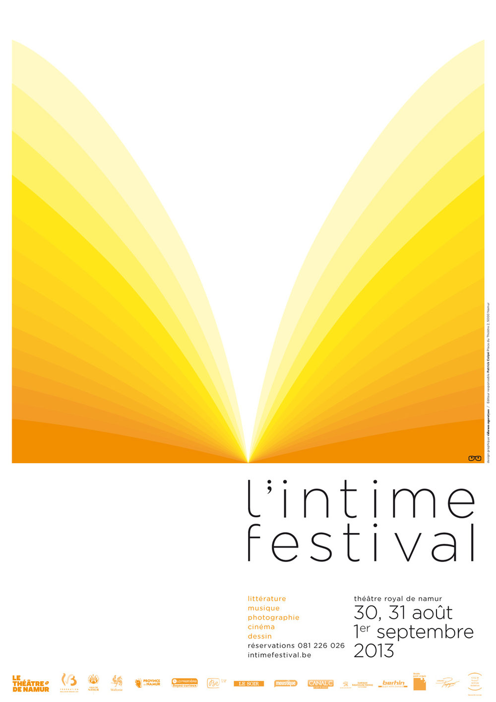 Literary festival poster and design