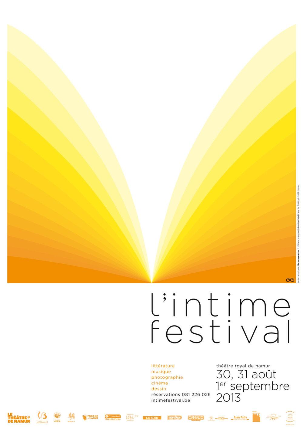 L'intime festival. Literary festival print.