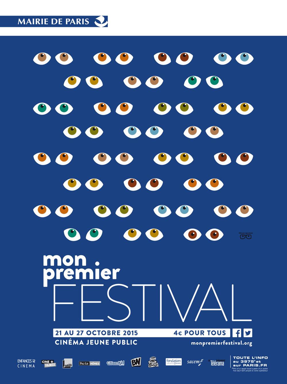 Mon Premier Festival. Film festival print.