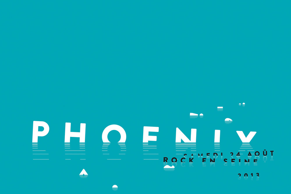 Music venue poster, Phoenix at the Rock en Seine festival