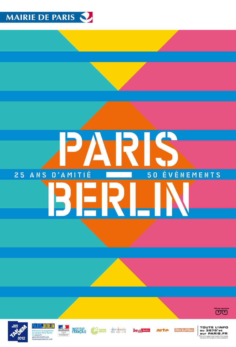 Paris Berlin. Cultural poster.