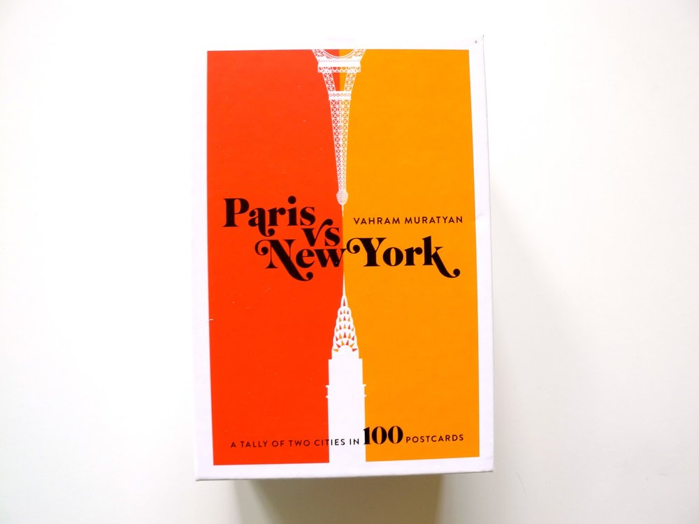 THE POSTCARDS - 100 PARIS VS NEW YORK POSTCARDS