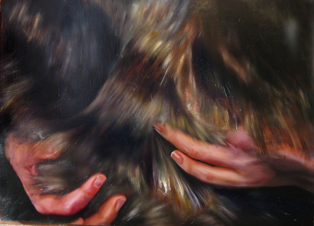 "as if we had always known.  oil on panel. 24"" x 36"" 2008"