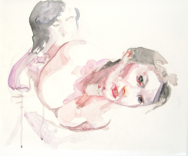 "untitled. watercolor and pencil on mylar. 16 x 20"". 2007"