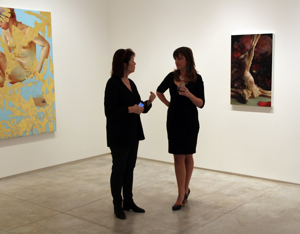 Kerry Inman and I at the opening of  Ghosts in the Sunlight , Inman Gallery, Houston TX