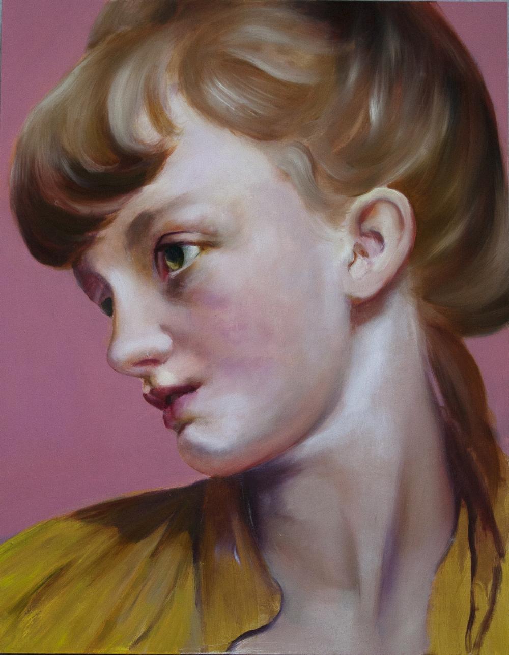 "stillness steps,oil on canvas over panel, 14"" x 11"", 2015."