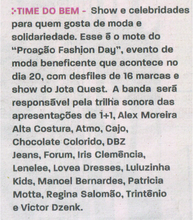 O Proação Fashion Day