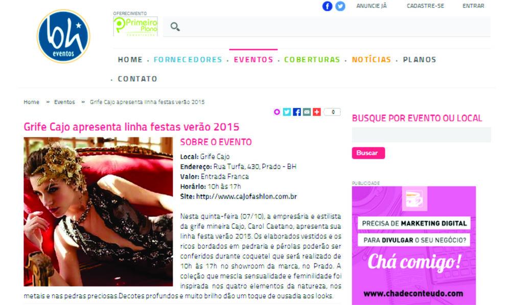 Lançamento Coleção Festa 2015