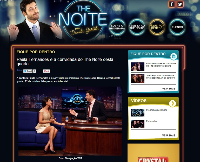 Paula Fernandes participa do The Noite e veste CAJO