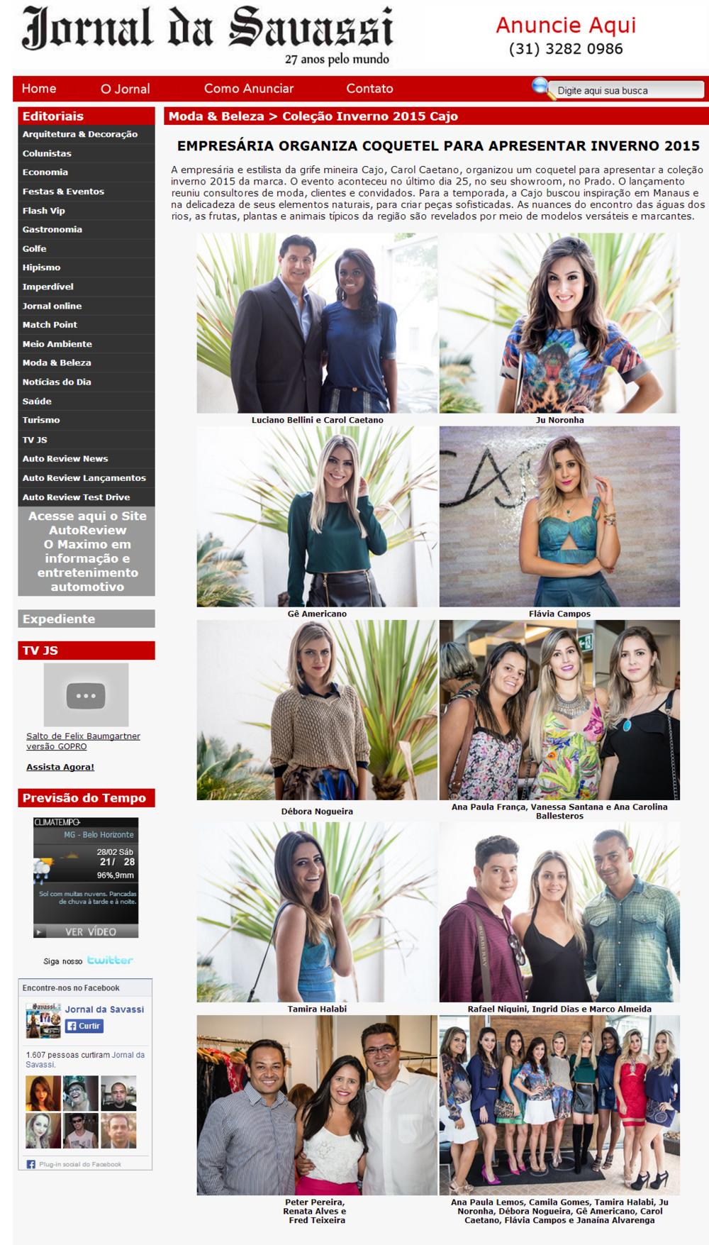 Cajo - Jornal da Savassi - 26-02-2015.png