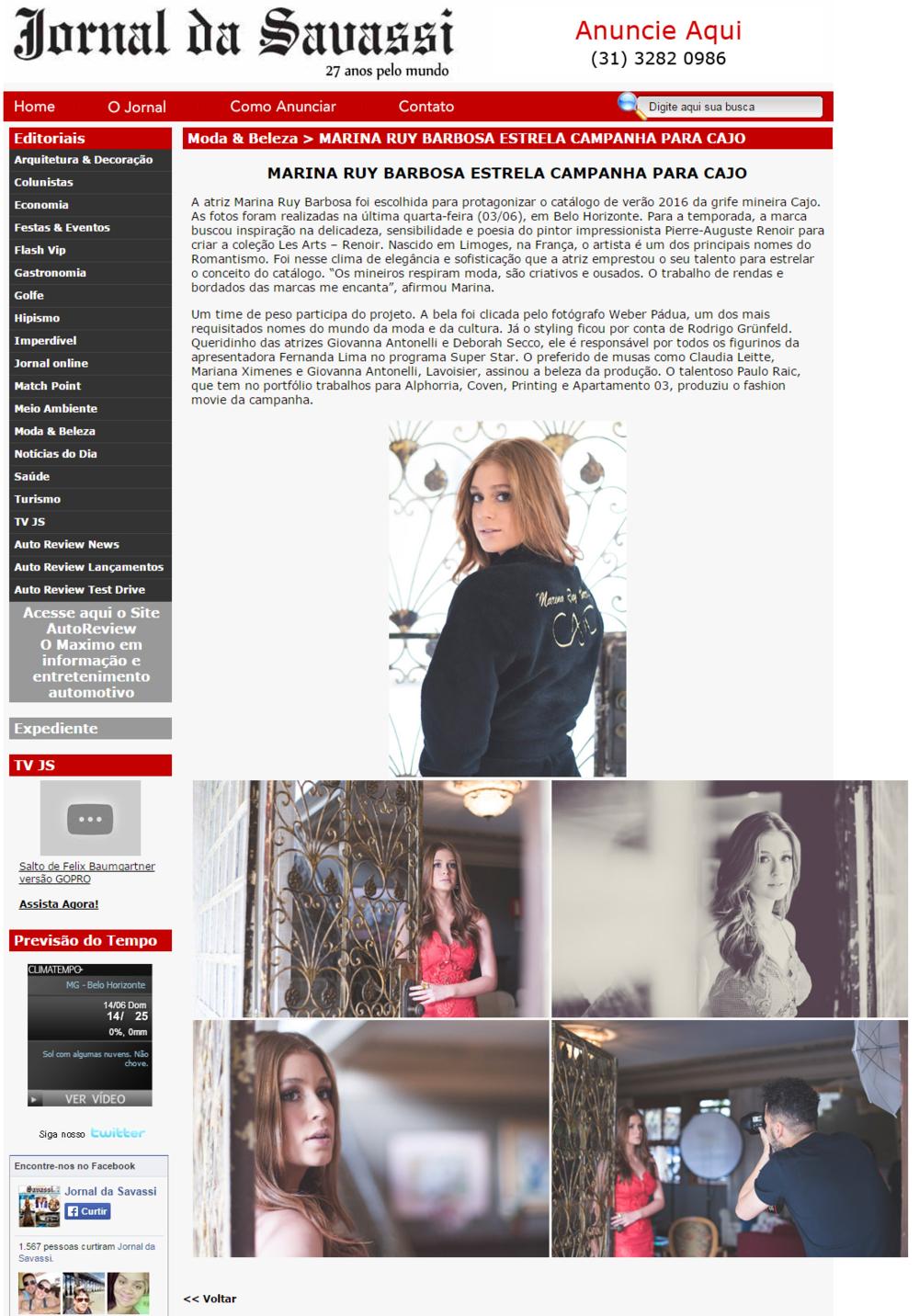 Cajo - Site Jornal da Savassi - 12-06-2015.png