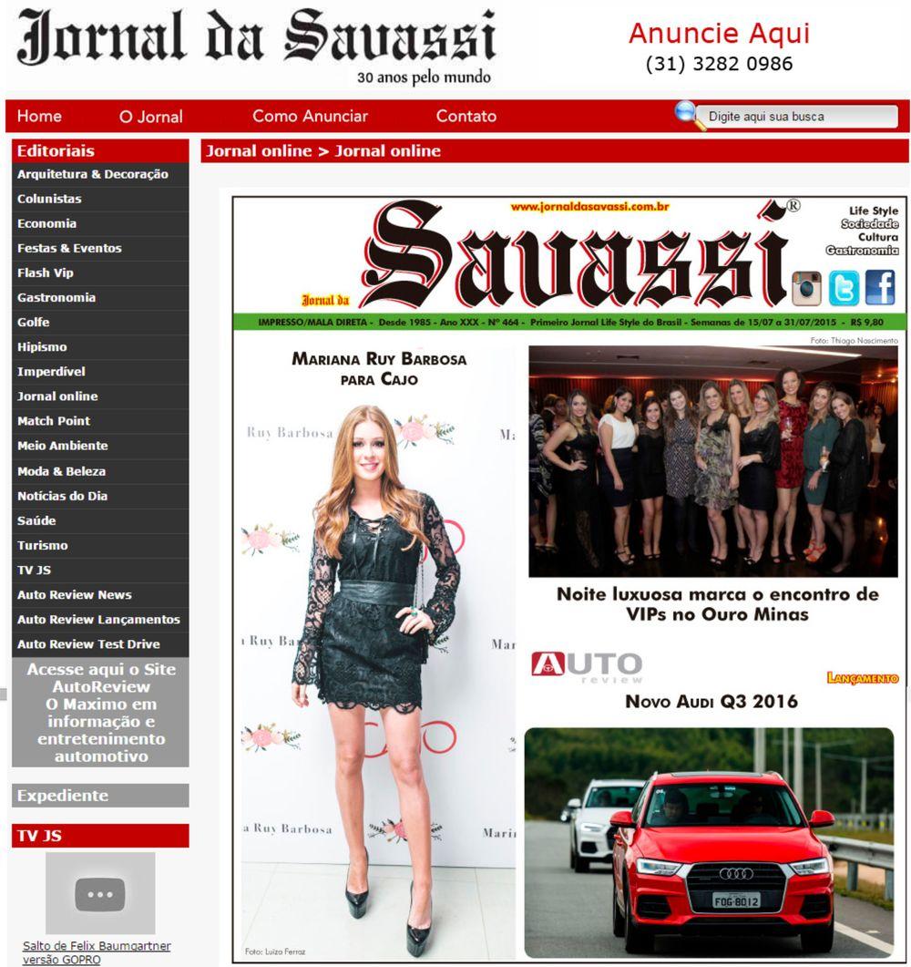 Cajo - Site Jornal Savassi - 15 a 31  de julho de 2015- Capa.jpg