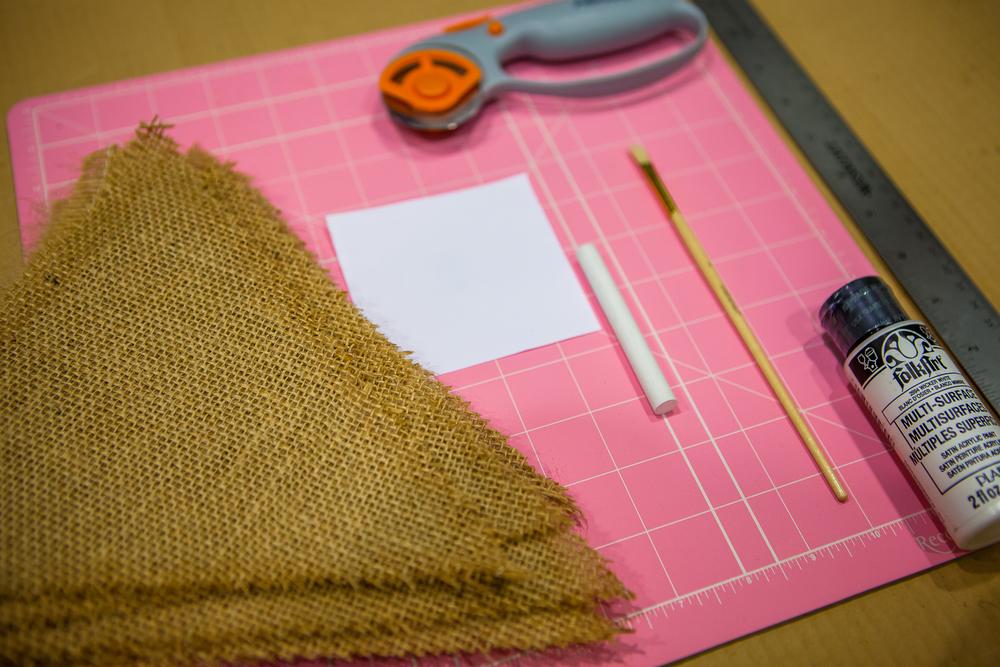 Burlap Banner Materials