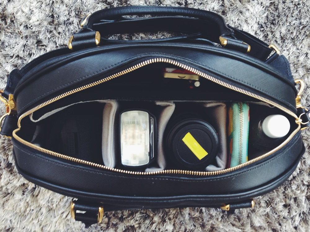 All my every day equipment in my Chelsea camera bag