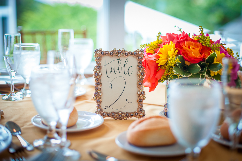 Calligraphy Table Numbers